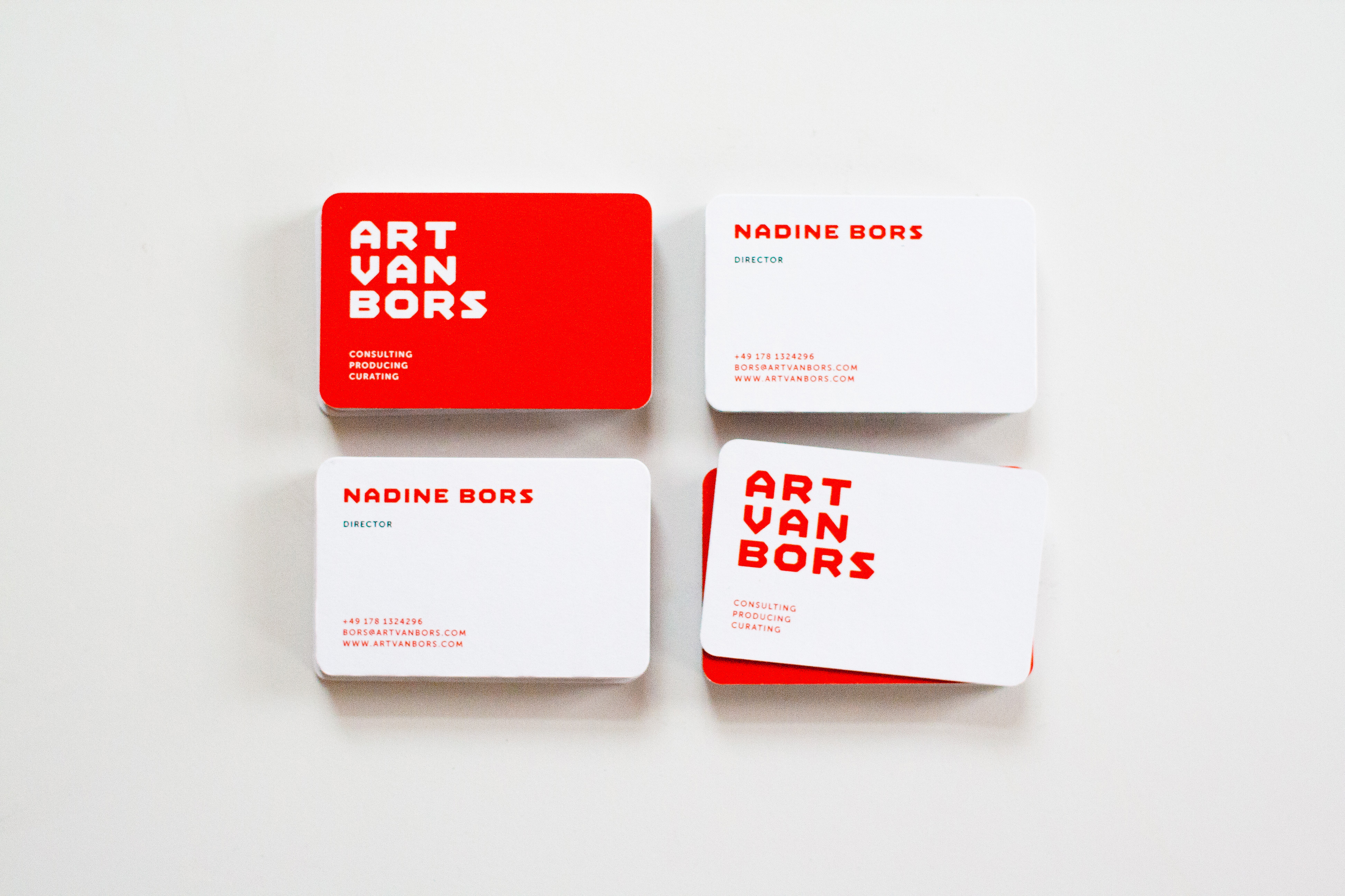 Art Van Bors Logo Visitenkarten Ono Ono